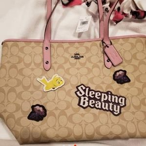Coach disney sleeping beauty tote Nwt